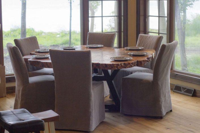 Custom Kitchen Tables | Maple Slab | Black Wolf Design